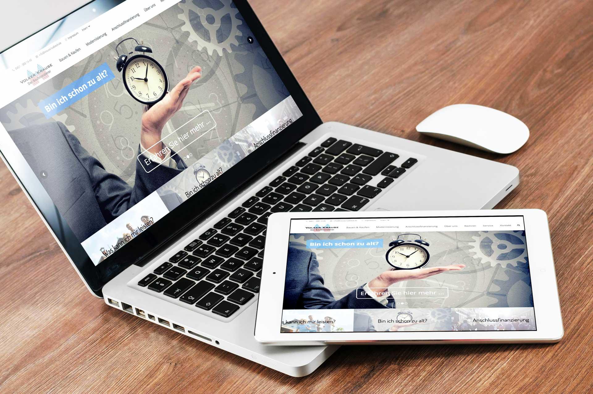 Internetseite Der Baufinanzierer - Volker Krause